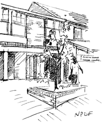 Pencil drawing of the Albion Street Group Practice building